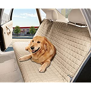 Elegant Comfort Quilted Design%100 Waterproof Premium Quality Bench Car Seat Protector Cover (Entire Rear Seat) for Pets – Ties to Stop Slipping Off The Bench