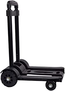 Folding Portable Rolling Hand Truck - 4 Wheels Flat Travel Luggage Household Telescopic Cart