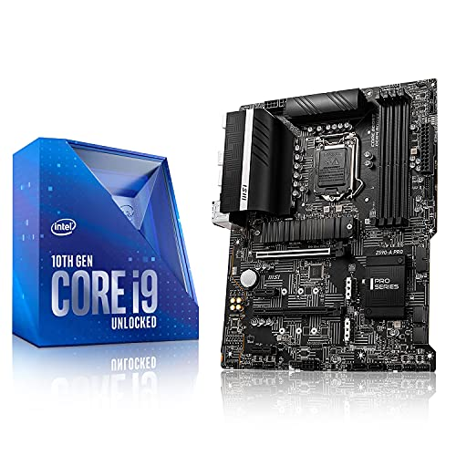 Micro Center Intel Core i9-10850K Desktop Processor 10 Cores up to 5.2 GHz Unlocked LGA 1200 DDR4 125W Bundle with MSI Z590-A PRO ATX Motherboard with PCIe 4 M.2 Slots USB3.2 Gen 2 Type C HDMI
