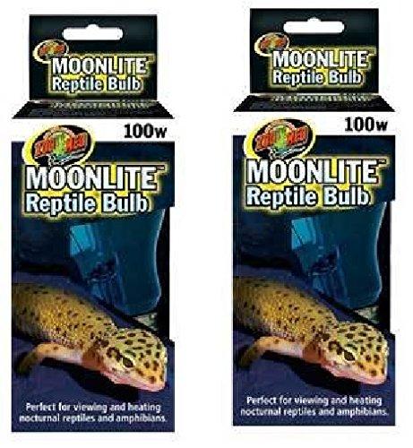 (2 팩) 동물원 메드 달빛 파충류 전구 - 각각 100 와트