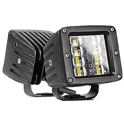 LED Cube Lights, Nirider 2PCS 48W CREE 3 Inch LED Pods Off Road Driving Lights Spot Flood Combo LED Light Bars Square Fog Lights LED Work Light for Truck Jeep Car SUV ATV UTV Boat