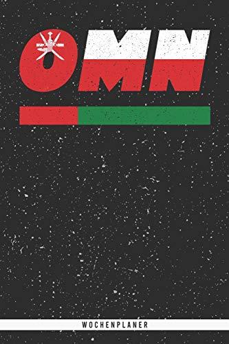 OMN: Oman Wochenplaner mit 106 Seiten in weiß. Organizer auch als Terminkalender, Kalender oder Planer mit der omanischen Flagge verwendbar