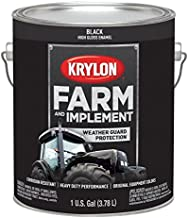 Krylon 1962 Farm & Implement Brush, High Gloss, Black, 1 Gallon Architectural Paints
