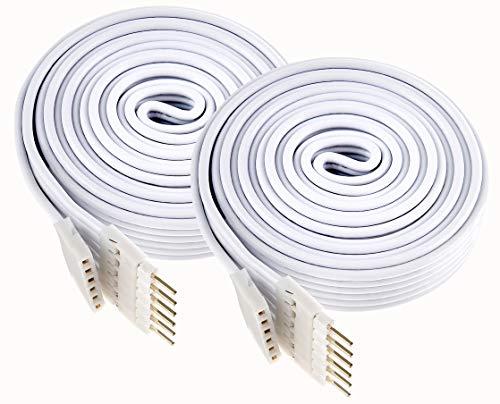 Litcessory Verlängerungskabel für Philips Hue Lightstrip Plus (1 m, 2er Pack, Weiß)