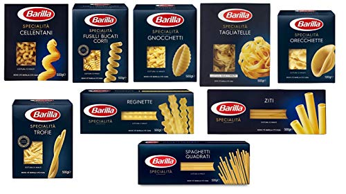 TESTPAKET Pasta Barilla Specialità italienisch Nudeln 9 pack x 500 g