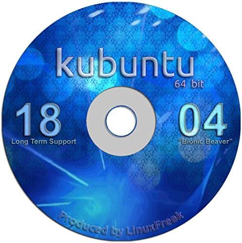 Kubuntu Linux 18 04 DVD Gorgeous Desktop Live DVD Official 64 bit Release product image