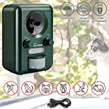 VOLADOR Animal Repellent, IPX4 Waterproof Ultrasonic Cat Fox Repeller, Solar USB Powered Pet Dog...