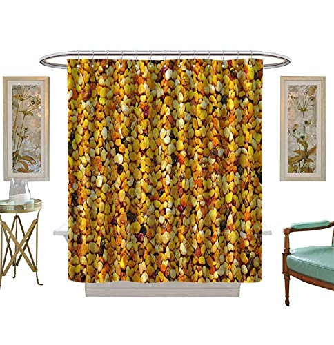 Shower Curtains 3D Digital Printing Big Bunch of bee Pollen granules Texture Bathroom Set with Hooks Size?W54 x L84 inch