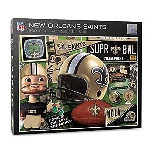 YouTheFan NFL New Orleans Saints Retro Series Puzzle - 500 Pieces, Team Colors, Large