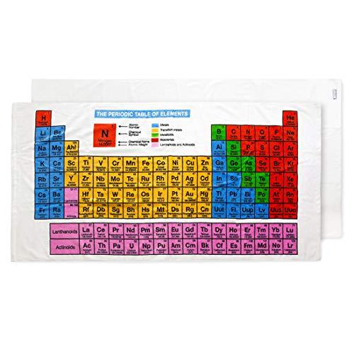 getDigital Großes Strandhandtuch für Nerds und Chemie Geeks mit aufgedrucktem Periodensystem der Elemente, Mehrfarbig, 140 x 70 cm, 100% Baumwolle, geprüft nach Öko-Tex Standard 100