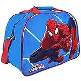 MARVEL 13210 Bolso Deportivo Niño Spiderman - Bolsa de Deporte Infantil para el Gimnasio, Viajes y Tiempo Libre - Azul y Rojo - 40x29x20 cm