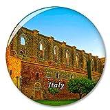 Italia Toscana Abbazia San Galgano Imán de Nevera, imán Decorativo, Ciudad turística, Viaje, colección de Recuerdos, Regalo, Pegatina Fuerte para Nevera