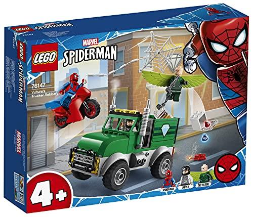 LEGO 76147 Marvel Spider-Man Superheld – Vultures Lkw-Überfall Bauset für Kinder 4+