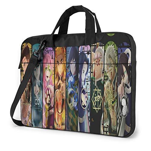 13 inch Laptop Sleeve Bag, Demon Slayer Kimetsu no Yaiba Tablet Briefcase Ultra Portable Protective Shoulder Shockproof Laptop Sleeve Case Bag Cover MacBook Air