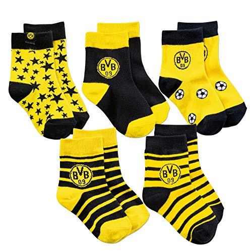Borussia Dortmund BVB-Kindersocken (5er-Pack) 03