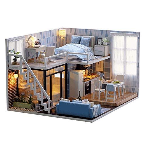 LSAR Miniaturhaus DIY Haus Kit, perfektes DIY Geschenk, Puppenhaus Miniatur für Kinder DIY Liebhaber
