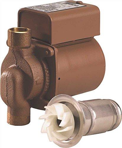 Taco 006-B4 Circulator Pump, 0-11 Gpm Flow Range, 1/4 hp, 3/4' Sweat, Bronze