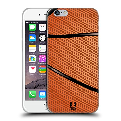 Head Case Designs Basketball Ball Kollektion Soft Gel Handyhülle Hülle Huelle kompatibel mit Apple iPhone 6 / iPhone 6s