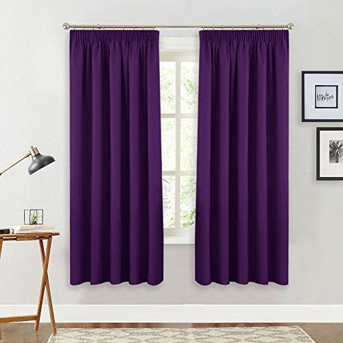 cortinas habitacion matrimonio lila