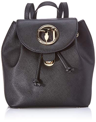 Trussardi Jeans Sophie Backpack SM Ecoleather, Borsa a Zainetto Donna, Nero (Black), 22x26x15 cm (W x H x L)
