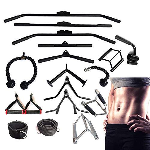 Accesorios para máquinas de cable, cuerda para tríceps,manija de estribo,palanca de remo con palanca,barra de tracción lateral, vendaje, accesorios para ejercicios de gimnasio en casa-Poste curvo-50cm