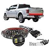 "Truck Tailgate Light Bar Double Row LED Flexible Strip 60"" Turn Signal Brake"