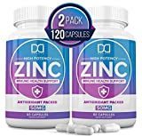 Zinc 50mg Vitamin Supplements for Immune Support System, Zinc Picolinate for Adults Kids - Zinc Pills Offer Powerful Alternative to Lozenge, Chewable Tablets, Liquid (4 Month Supply   2 Pack)