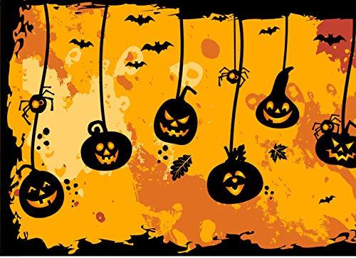 3D Wall Sticker Halloween Haunted House Elf Pumpkin Light Showcase Decorazione natalizia in pvc