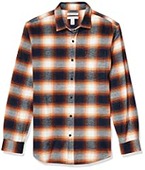 "Allover plaid and midweight flannel make this button-up shirt a go-to pick when the temperature drops Patch chest pocket, rounded hem and barrel cuffs Same fit, new name: We've changed the name of this shirt style to ""Regular Fit"" but the measurement..."