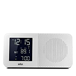 Braun BNC010WH-SRC AM/FM Quartz Alarm Clock