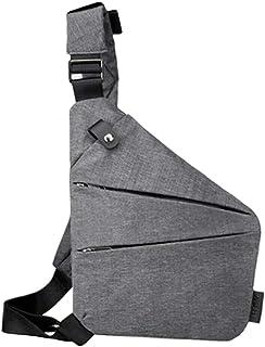 KLOP256 - Bolsa bandolera para hombre (correa ajustable, multifunción, antirrobo, tela Oxford, impermeable, para teléfono ...