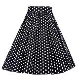 S.CHARMA Jupe Femme trapèze 50 60 1950 Robe année Vintage pin-up pour Anniversaire Party 1950's Audrey Hepburn de soirée Cocktail Rockabilly soirée Grande Taille by (17,XXL)