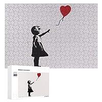 300ピース ジグソーパズル パズル 木製パズル 飾り画 Banksy バンクシー (2) 参考図付き 減圧玩具 頭脳練習 創造力 知育 子供 大人 ギフト プレゼント puzzle