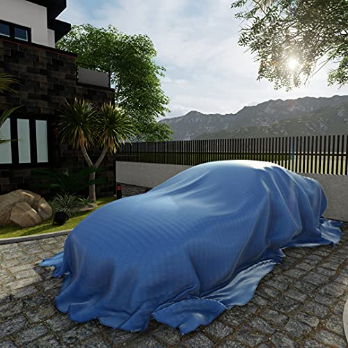 Patio Paradise 10' x 18' General Multi-Purpose Tarpaulin Canopy Tent Shelter Waterproof Cover Weatherproof Strong Reinforced Blue Poly Tarp