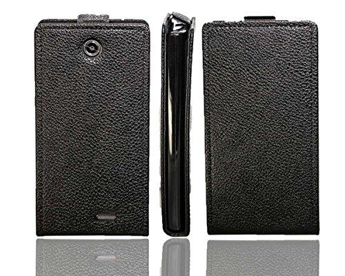 caseroxx Flip Cover für Medion Life E4502 MD98907, Tasche (Flip Cover in schwarz)
