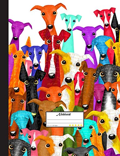 Greyhound Pattern Notebook: Blank Lined Journal for Greyhound, Dog Lovers, Dog Mom, Dog Dad and Pet Owners | 8.5x11 with College Ruled Pages
