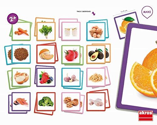 Akros Akros20402 Maxi-Memory Healthy Food Jeu de Cadre