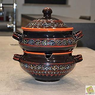 Couscoussier Marrakech Negro - Modelo grande