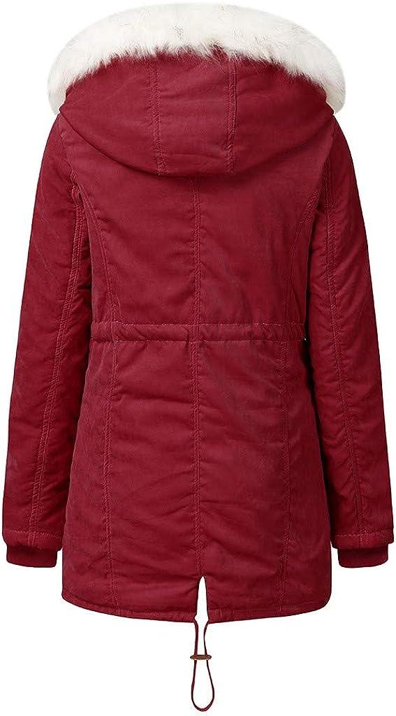 Sllowwa Mantel Damen Outwear Winterjacke Winter Revers Reißverschluss Langen Trenchcoat Jacke Damen Mantel Outwear Rot