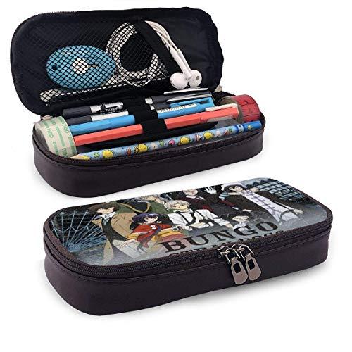 Bungo Stray Dog Pen Case, Student Lederstift caso niños aprenden papelería, también se puede utilizar como neceser de cosméticos