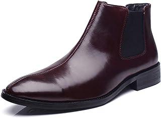 Fur men's Chelsea boots leather casual shoes wear wedding dress men's booties