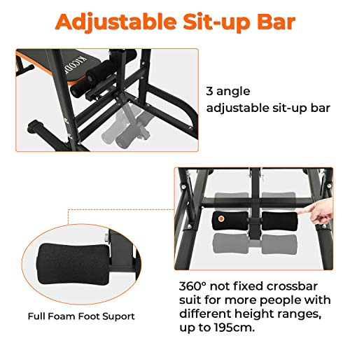 Read more reviews on Kicode Pull Up Bar Dip Station