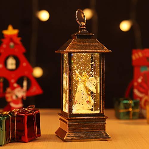JEDAWN Mini Lantern Christmas Lanterns Decorative Christmas Tree Home Decoration,Lighted Christmas Crystal Glass Snowballs Night Light Christmas Holidays Home décor & Ideal Gifts