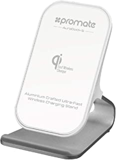Promate Fast Wireless Charging, Premium Aluminium 10W Fast Wireless Battery Charger with QC 3.0 USB, USB Type-C Sync Charg...