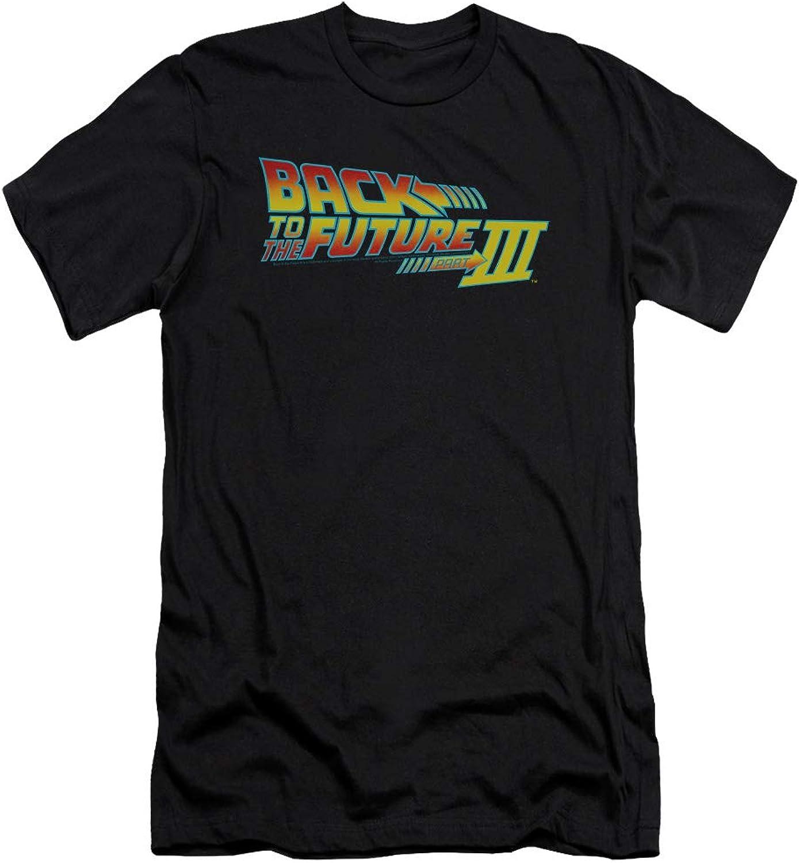 Back To The Future III  Mens Logo Premium Slim Fit TShirt