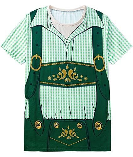 COSAVOROCK Disfraz de Bávaro Alemán Oktoberfest para Hombre Camiseta