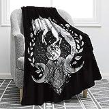 Jekeno Wolf Moon Blanket Print Comfort Soft Warm Throw Blanket for Kids Adults Gift 50'x60'