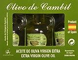 Olivo de Cambil, Aceite de Oliva Virgen Extra (AOVE) Picual - Pack 4 Estuches de 3 Miniaturas x 25 ml (Total 300 ml) con D.O Sierra Mágina