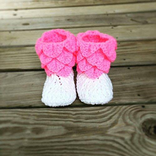 Crochet Baby Girl Booties, Crocodile