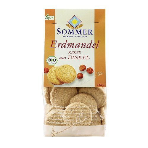 Sommer & Co. Bio Dinkel Erdmandel Kekse, vegan (1 x 150 gr)